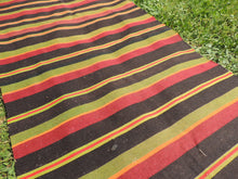 Striped Turkish runner retro kilim - bosphorusrugs  - 6