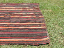 Goat Hair Striped Turkish nomad kilim - bosphorusrugs  - 4