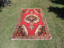 Vintage Turkish Area rug with low piles - bosphorusrugs  - 2