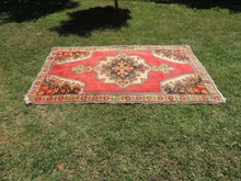 Vintage Turkish Area rug with low piles - bosphorusrugs  - 3