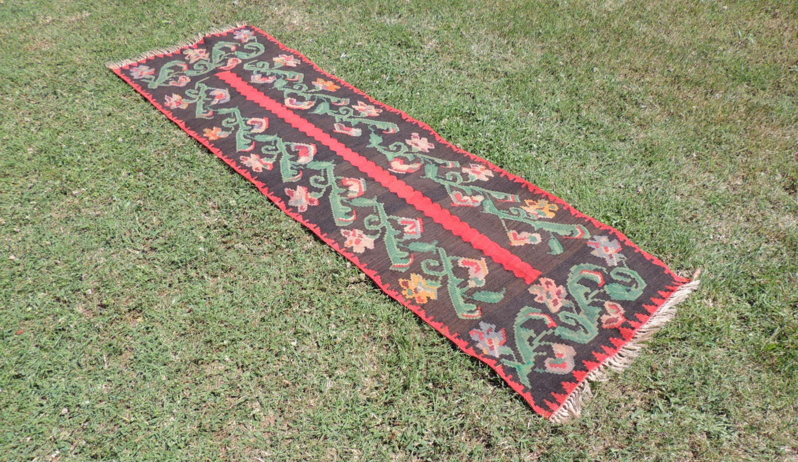 Karabagh kilim runner rug - bosphorusrugs  - 1