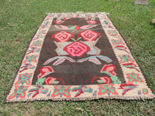 Undyed floral Turkish kilim - bosphorusrugs  - 3