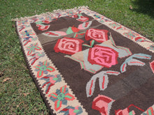 Undyed floral Turkish kilim - bosphorusrugs  - 4