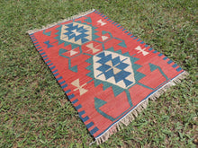 Small vintage boho Turkish kilim rug - bosphorusrugs  - 4