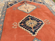 70's Vintage Turkish area rug - bosphorusrugs  - 7