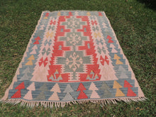 70's Turkish Oushak kilim rug - bosphorusrugs  - 3