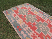 70's Turkish Oushak kilim rug - bosphorusrugs  - 4