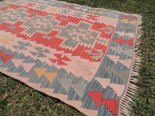 70's Turkish Oushak kilim rug - bosphorusrugs  - 5