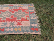 70's Turkish Oushak kilim rug - bosphorusrugs  - 6