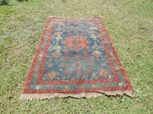 Vintage worn Persian area rug - bosphorusrugs  - 2