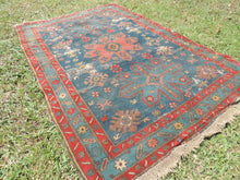 Vintage worn Persian area rug - bosphorusrugs  - 5