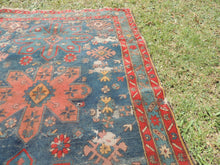 Vintage worn Persian area rug - bosphorusrugs  - 6