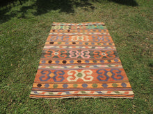Nomad Turkish kilim rug with tribal design - bosphorusrugs  - 2