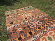 Nomad Turkish kilim rug with tribal design - bosphorusrugs  - 4