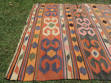 Nomad Turkish kilim rug with tribal design - bosphorusrugs  - 7