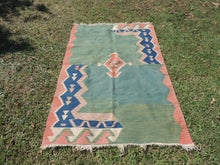 Modern art Turkish kilim rug - bosphorusrugs  - 2
