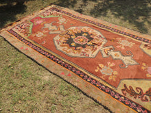 Brown Kars kilim rug - bosphorusrugs  - 3
