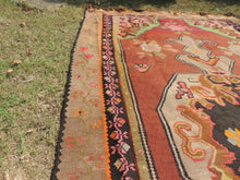 Brown Kars kilim rug - bosphorusrugs  - 5