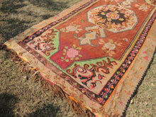Brown Kars kilim rug - bosphorusrugs  - 6