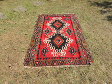 4x6 Red Turkish kilim rug - bosphorusrugs  - 2