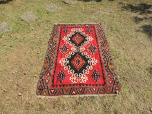 4x6 Red Turkish kilim rug - bosphorusrugs  - 3