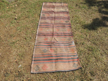 Vintage worn Turkish kilim throw - bosphorusrugs  - 2
