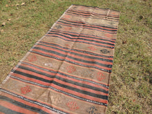 Vintage worn Turkish kilim throw - bosphorusrugs  - 3