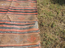Vintage worn Turkish kilim throw - bosphorusrugs  - 4