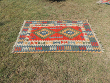 Vintage Turkish Kayseri kilim rug - bosphorusrugs  - 4