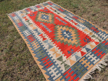 Vintage Turkish Kayseri kilim rug - bosphorusrugs  - 5