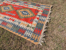 Vintage Turkish Kayseri kilim rug - bosphorusrugs  - 6