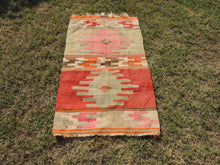 Small Boho Turkish kilim rug - bosphorusrugs  - 2