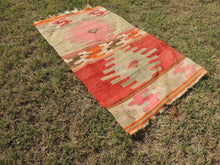 Small Boho Turkish kilim rug - bosphorusrugs  - 4