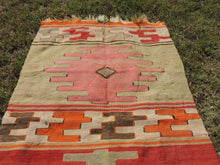 Small Boho Turkish kilim rug - bosphorusrugs  - 5