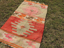 Small Boho Turkish kilim rug - bosphorusrugs  - 6