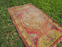 Worn small size area rug - bosphorusrugs  - 4