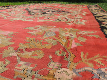 Red and Black Karabakh kilim rug floral - bosphorusrugs  - 9