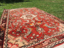 Red Persian wool carpet - bosphorusrugs  - 6