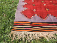 Handwoven Purple Tribal Kilim Rug - bosphorusrugs  - 4