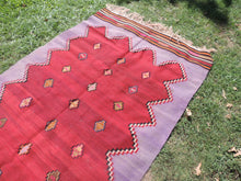 Handwoven Purple Tribal Kilim Rug - bosphorusrugs  - 6
