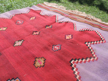Handwoven Purple Tribal Kilim Rug - bosphorusrugs  - 7