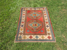 Vintage Handmade Geometric Turkish Carpet - bosphorusrugs  - 2