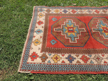 Vintage Handmade Geometric Turkish Carpet - bosphorusrugs  - 4