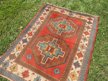 Vintage Handmade Geometric Turkish Carpet - bosphorusrugs  - 5