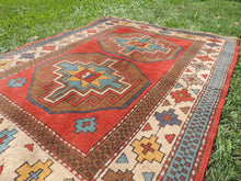 Vintage Handmade Geometric Turkish Carpet - bosphorusrugs  - 7