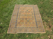 Yellow Vintage Worn Turkish Carpet On Sale - bosphorusrugs  - 2