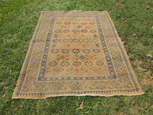 Yellow Vintage Worn Turkish Carpet On Sale - bosphorusrugs  - 3