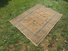 Yellow Vintage Worn Turkish Carpet On Sale - bosphorusrugs  - 4
