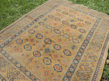 Yellow Vintage Worn Turkish Carpet On Sale - bosphorusrugs  - 5