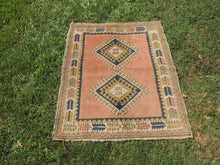 Salmon Pink Handmade Turkish Carpet - bosphorusrugs  - 2